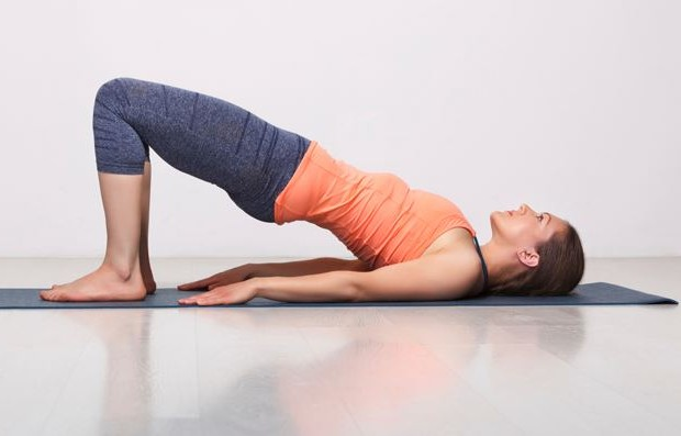 Bridge pose - yoga exercises